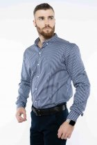 Рубашка в полоску Time of Style 511F054 XXXL Темно-синий/белый - изображение 4