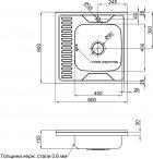 Кухонная мойка LIDZ 6060-R Polish 0.6 мм (LIDZ6060RPOL06) - изображение 7