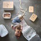 Коробка с крышкой IKEA (ИКЕА) RABBLA 25x35x20см коричневая бежевая (603.481.25) - изображение 7
