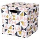 Коробка з кришкою IKEA (ІКЕА) TJENA 30х30х30см біла чорна рожева (203.982.21) - зображення 1