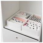 Коробка з відсіками IKEA (ІКЕА) RASSLA 25х41х9см біла (804.213.27) - зображення 3