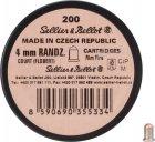 Патрон Флобера Sellier & Bellot Randz Curte кал. 4 mm short куля - свинцева кулька плакований міддю. Упаковка 200 шт. 12110101 - зображення 2