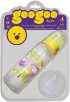 Бутылочка для кормления GooGoo Kyiv 250 мл с двумя силиконовыми сосками Желтая (A00150000071306) (4823060811654) - изображение 1