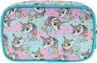 Косметичка Yes Weekend Unicorn 1 отделение Бирюзовая с розовым (532659) - изображение 2