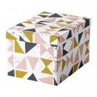 Контейнер с крышкой IKEA TJENA 18x25x15 см белый черный розовый 703.982.14 - зображення 1