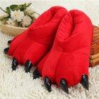 Плюшевые тапочки игрушки Коготки красные My kigu 30 см Размер универсальный 39-45 - изображение 2