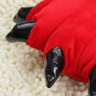 Плюшевые тапочки игрушки Коготки красные My kigu 30 см Размер универсальный 39-45 - изображение 3