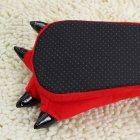 Плюшевые тапочки игрушки Коготки красные My kigu 30 см Размер универсальный 39-45 - изображение 4