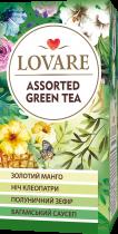 Чай зеленый Lovare Ассорти 4 вида по 6 шт пакетированный 24х2 г (4820097815679) - изображение 1