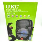 """Портативна колонка 8"""" акумуляторна бездротова Bluetooth караоке з провідним мікрофоном USB FM 40Вт UKC RE-258 - зображення 6"""