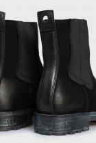 Мужские черные кожаные челси THROUPER Diesel 45 Y02476 PS066 - изображение 2