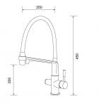 Змішувач для кухні з підключенням фільтра питної води хром Gappo G4398-7 - зображення 3
