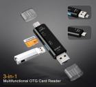Перехідник з USB TypeC Micro SD на MicroSD TF card , чорний - зображення 3