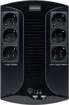 ДБЖ LogicPower 650VA-6PS (LP4324) - зображення 1