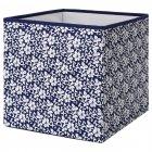 Коробка IKEA (ИКЕА) DRÖNA 33x38x33см подарочная синяя белая с узором (102.819.57) - изображение 1