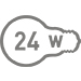 Электрическая мощность 24 Вт