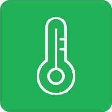 Матеріал не сприйнятливий до перепадів температури та витримує високу t 250 ºС