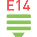 Цоколь E14